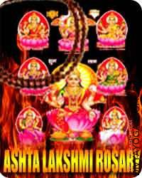 Ashta-lakshmi rosary Lakshmi, the Hindu mata of magnificence, wealth and fruitfulness has many iconic manifestations...