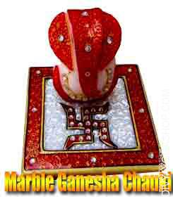 Marble ganesha chauki Marble ganesha chauki is beneficial for prosperity and success...