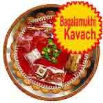 Traditional rakhi thali with Bagalamukhi kavach