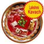 Traditional rakhi thali with lakshmi kavach