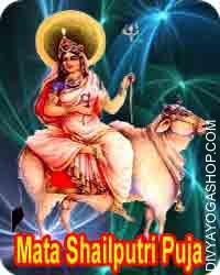 Shailaputri Puja The first day of Durga name is Shailputri. Mata Shailputri  is often known as Parvati or Hemavati. 'Shail' means mountains and 'Putri' ..