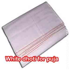 White dhoti for puja