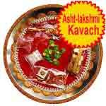 Traditional rakhi thali with asht-lakshmi kavach