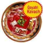 Traditional rakhi thali with gayatri kavach
