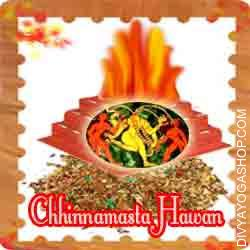 Chhinnamasta hawan samagri This Chhinnamasta Havan Samidha is charged by Chhinnamasta mantra. Every Tuesday or Ashtami you can also provide Ahuti 108 time by this Chhinnamasta havan Samagri for child, gets rid of events causing distress or pain...