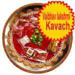 Traditional rakhi thali with vaibhav lakshmi kavach