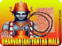 Dhanvantari yantra mala for health This Dhanvantari Yantra and rosary energized by Lakshmi mantra. It gives you protection from good health, good wealth...