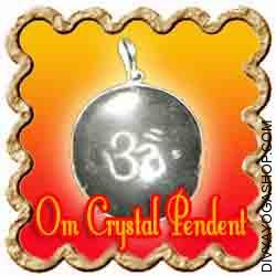 Crystal Om Pendant Crystal (Sphatik) Om Pendant is charged by Shiva mantra. Om is probably the most sacred symbol in Hinduism and is said to be the sound of infinity. It's the essence of all mantras and Vedas...