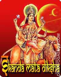 Skanda mata diksha Mata Skandamata mounts on the ferocious lion. She carries child Murugan in her lap. Lord (bhagawan)...