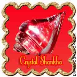 Crystal (Sphatik) Shankha/Conch Crystal (Sphatik) Shankha/Conch is charged by Lakshmi mantra.  Sphatik Shankha/Conch is the image of Mata Lakshmi and it balances and harmonizes the aura around us...