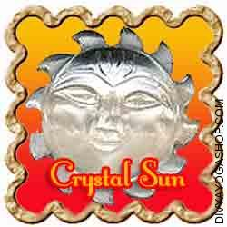 Crystal (Sphatik) Sun Crystal (Sphatik) Sun  is charged by Surya mantra. Crystal Sun represents power, authority & luck in business...