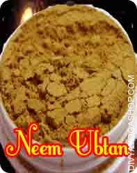 Neem Ubtan This Neem Ubtan charged by Dhanvantari mantra. An amazing healer of minor skin problems and a terrific anti-irritant, a stunning cleanser...