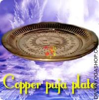 Copper puja plate