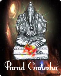 Parad Ganesha This Parad Ganesha charged by Ganesha mantra. Parad (mercury) is alleged to be a natural factor and it's believed the something or any God idol within the form of parad is claimed to be very auspicious...