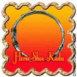 Horse Shoe Kada This Horse Shoe Kada is charged by Shani mantra. Horse Shoe Kada is produced from horse shoe and is wrapped in any chains/threads...