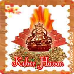 Kuber hawan samagri This Kuber Havan Samidha is charged by  Kuber mantra. Every Monday, Thursday and Purnima you can also provide Ahuti 108 time by this Kuber havan Samagri for wealth, debt problems, business problems...