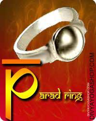 Parad Ring This Parad Ring charged by Lakshmi  mantra. Parad has particular significance in Ayurveda. Parad benefits have be proved helpful from Astrological as well as Scientific...