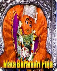 Mata Bhramari puja Bhramari Devi is a darkish Mata acknowledged as one different kind of Maa Kalika. It is said that She...