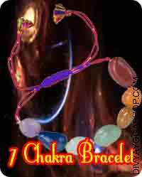 7 chakra bracelet This 7 Chakra Bracelet has been energised by Tatva  Beej (लं वं रं हं यं ) mantra. By Wearing this bracelet our body has seven chakras are balanced...