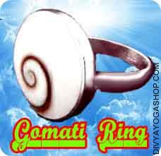 Gomati chakra ring Gomati Chakra is an unusual pure case stone, discovered from the Gomti Waterway in Dwarka positioned in India...