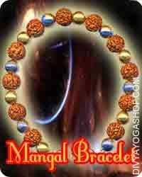 Mangal bracelet This Mangal bracelet has been energised by Mangal mantra. Mangal bracelet beneficial for physical energy, self-confidence, ego...
