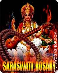 Saraswati rosary Devi Saraswati is commonly portrayed as a stupendous, white-skinned girl, attired in unadulterated white...