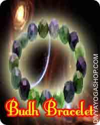 Budh bracelet This Budh Bracelet has been energised by Budh mantra. Budha Bracelet represents intelligence, intellect, communication, analysis, the senses (especially the skin)...