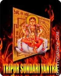 Tripur sundari yantra Tripura' means 'the three cities,' and 'sundari' means 'stunning,' particularly an exquisite female...