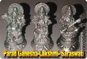 Parad Lakshmi-Ganesh-Sarswati for wealth Laxmi, Bhagawan ganesha and Mata saraswati Pooja is to be accomplished for achievement in enterprise...