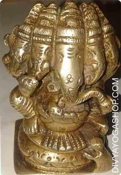 Panchamukhi Ganesha -330 gram This Bhagawan of data and the remover of obstacles can also be the older son of Lord (bhagawan) Shiva...