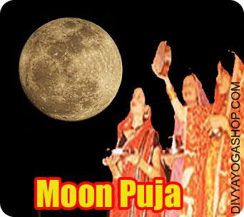 Chandra (Moon) Puja Chandra (moon) Puja is devoted to Lord Chandra, the Moon God. Grah Shanti Chandra (moon) Pooja (Moon Worship) is recommended to those, having malefic Chandra or wrongly positioned moon as per the horoscope. The next checklist consists of couple of issues related to Chandra (moon).,,