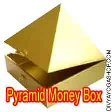 Pyramid money box This Pyramid Cash Box is charged by Lakshmi mantra. It is a well known a beautiful box, in particular...