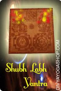 Shubh Labh copper Yantra This  Shubh Labh Yantra charged by  Ganesha Lakshmi mantra.  Shubh Labh Yantra is a mixed Yantra of Goddess Lakshmi and Lord Ganesh and is named Maha Yantra. By means of Ganesh Yantra one attains Siddhi and through lakshmi one is blessed with wealth. ..