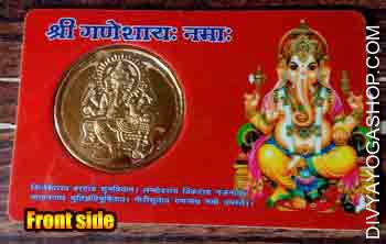Ganesha yantra card This Ganesh yantra card is charged by 1100 Ganesh mantra. This is beneficial for...