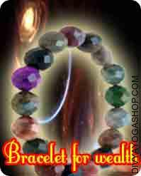 Bracelet for wealth This Bracelet for wealth has been energised by Lakshmi mantra. By wearing this bracelet it helps to solve your financial related problems...