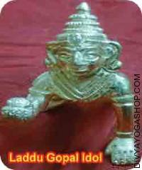 Brass Laddu gopal idol