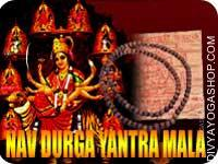 Nav-Durga yantra mala for material life This Nav-Durga Yantra and rosary energized by Nav-Durga Mantra. It gives you free and save life...