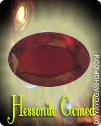 Hessonite  (Gomed) gems This Gomed gemstone charged by Rahu mantra. Astrology recommends Gomed as the stone to be relied upon in times the place on is below sufferings from ailments associated to blood, pores and skin, throat and gall bladder...