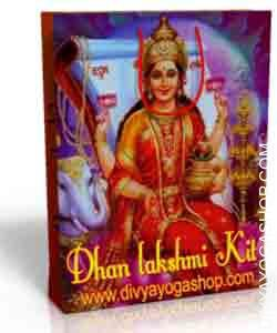 Dhan lakshmi spiritual kits This Dhan lakshmi Spiritual kit charged by Mahalakshmi  mantra. Goddess Dhan lakshmi, who has been personified as the supreme image of wealth and prosperity in Hindu mythology...