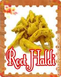 Haldi (akha haldi) This Root Haldi is charged by Ganesha mantra. It used in Puja/worship, havan. It is prepare to perform ritual Puja...