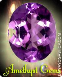 Amethyst Gems This Amethyst Gemstone charged by Shani mantra.  Crystalline quartz in shades of purple, lilac or mauve known as amethyst, a stone traditionally worn to protect towards drunkenness and to instil a sober mind. ..