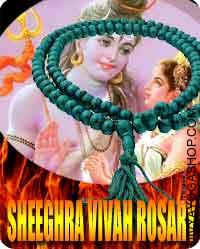 Sheegra Vivaha rosary  Shighra Vivaha Yantra is worshiped to get married at proper age. It additionally will increase the probabilities of getting married. It has the facility..
