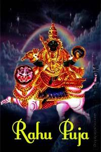 Rahu Puja Lord rahu Puja or the Dragon's Head Worship (puja) is dedicated to planet (graha) Rahu. Grah Shanti Rahu Pooja is beneficial for those, having malefic Lord rahu or wrongly positioned Lord rahu as per the kundli predictions. Here is checklist of issues related to Lord rahu (Dragon's Head)...