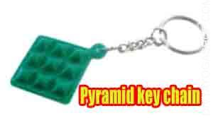 Pyramid key chain It is a mechanism for concentrating unseen psychic energy. Pyramid sprouts are utilized in key chain...