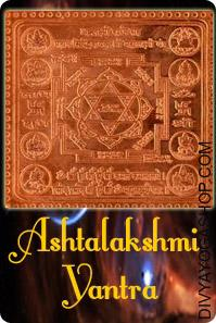 Ashta-lakshmi copper yantra This Asht-lakshmi copper Yantra is inscribed on Bhojpatra and is energised with particular highly effective Asht-lakshmi Mantras. ..