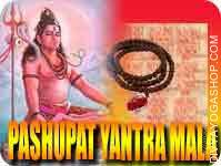 Pashupat yantra mala for enemy stambhan This Pashupat Yantra and rosary energized by Pashupat Mantra. It gives you trength, power, confidence...