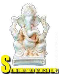 Sangmarmar stone ganesha idol Bhagawan ganesha has been represented with the top of an elephant for the explanation that early phases...