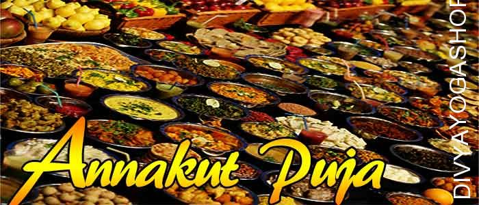 Annakut puja On fourth day of diwali Annakoot pooja is completed. Food hillocks are made on this day, which represent the Mount Govardhan..