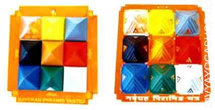 Navgrah pyramid yantra set This is very useful gadget for the peace of the house. Navgrah pyramid Yantra is fastened on the wall outdoors...