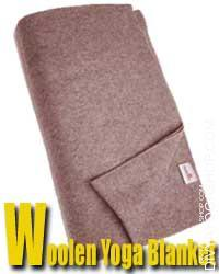 Woolen Yoga Blanket Our woolen yoga blankets are strong and heavy. Use this blanket for heat, consolation, extra padding, or to lend help to your yoga postures...